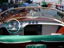 "Tritone #110, 1959 ""Loredana"" with the new steering wheel ""calyx"" based on the 1958 Chrysler New Yorker wheel."
